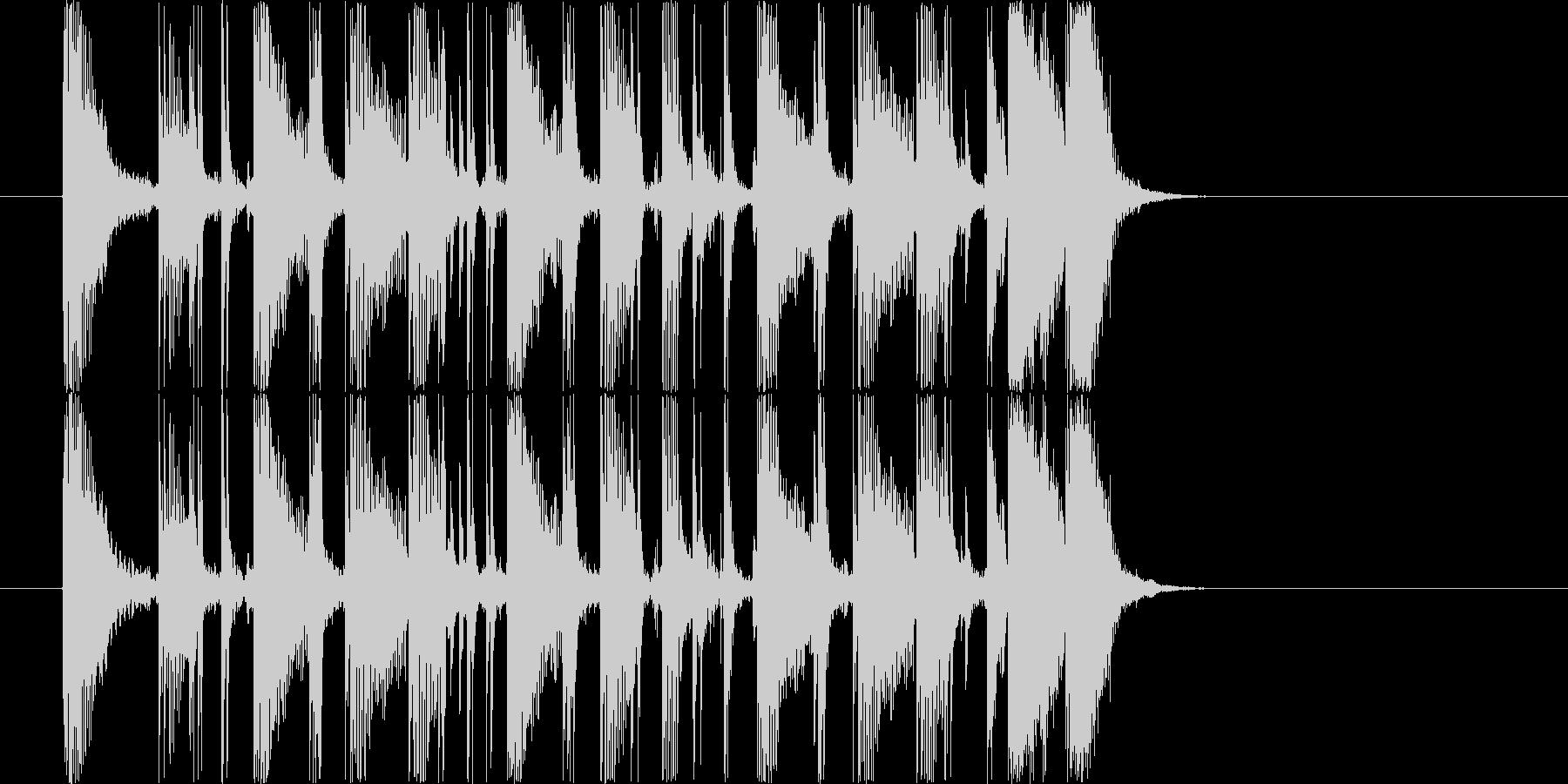 シンプルでクリアなギターカッティング5秒の未再生の波形