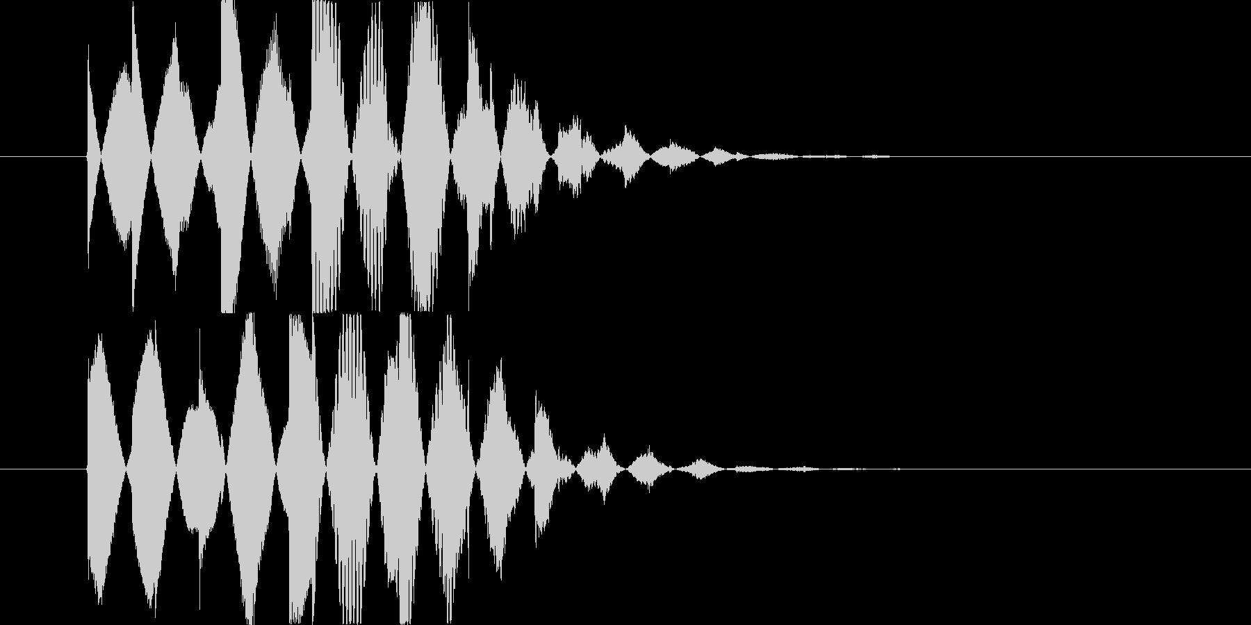 優しいベルの音 の未再生の波形