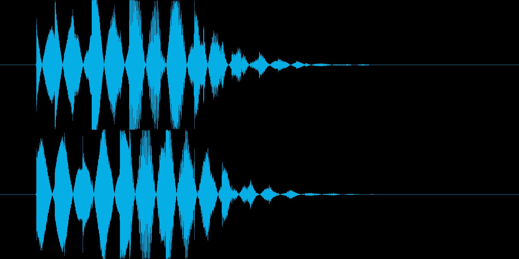 優しいベルの音 の再生済みの波形