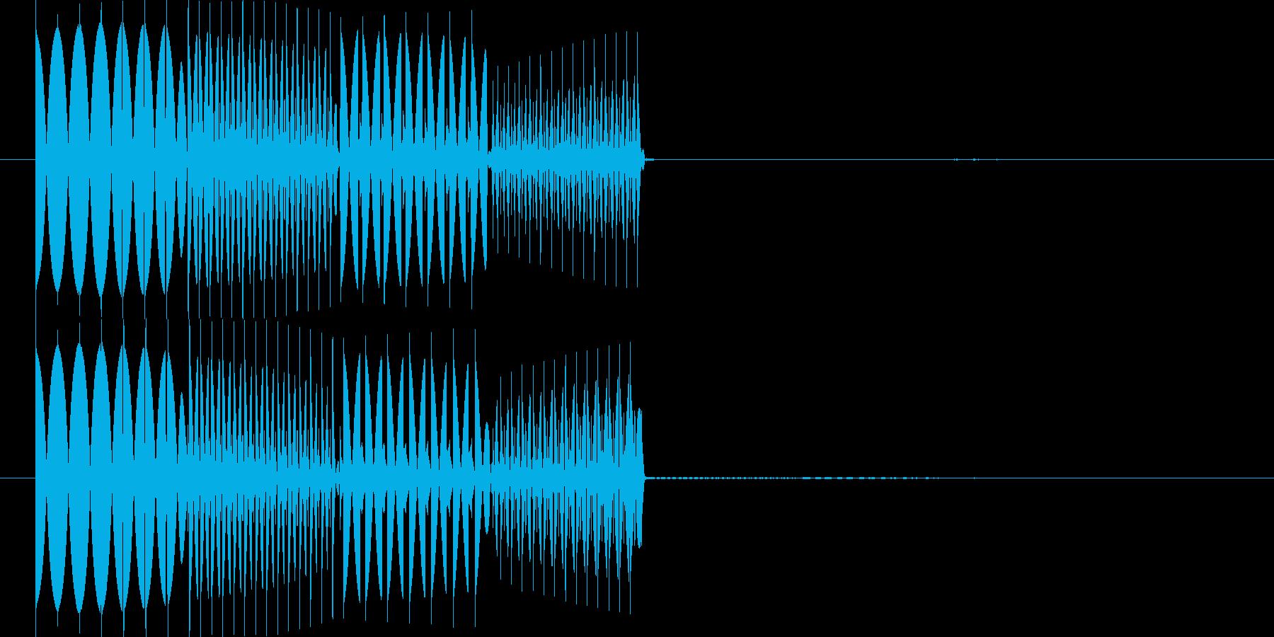 ピコピコ(エラー・アラート音 低音2)の再生済みの波形