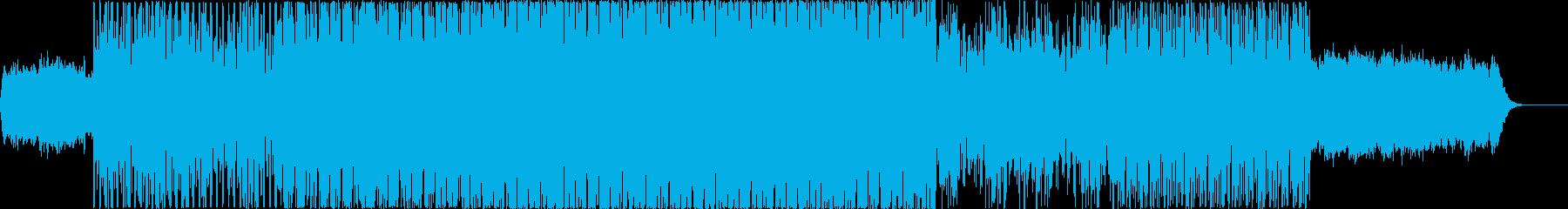 EDM系のミディアムなSynthwaveの再生済みの波形