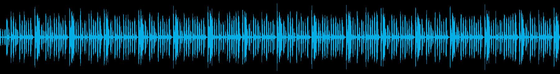 カワイイほんわかな雰囲気でおもちゃ的な曲の再生済みの波形