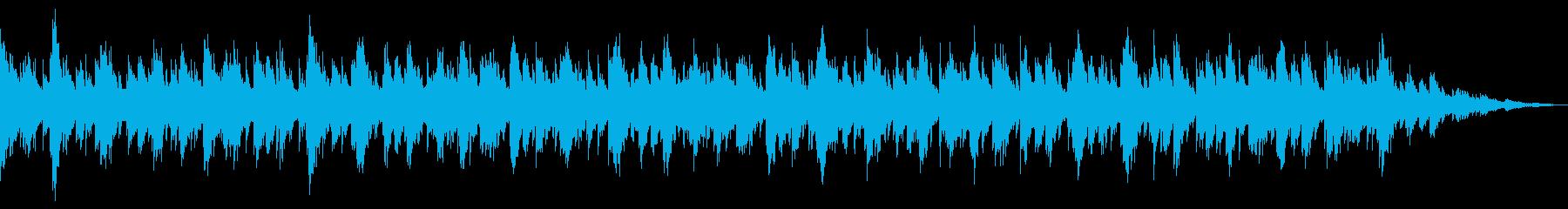 ピアノを用いたリズムのない環境音楽の再生済みの波形