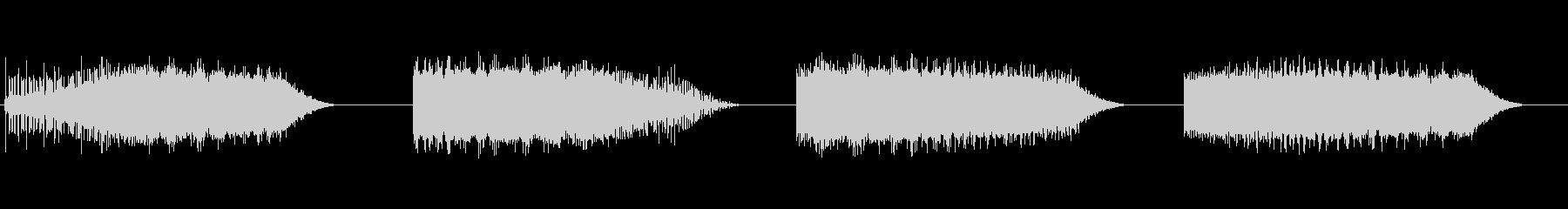 ノイズ、スイープ、アップ、ダウン、...の未再生の波形