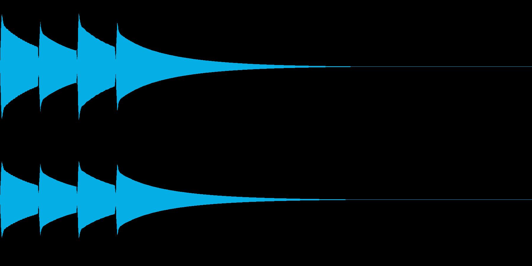 ピンポンピンポン(正解/クイズ/優しい)の再生済みの波形
