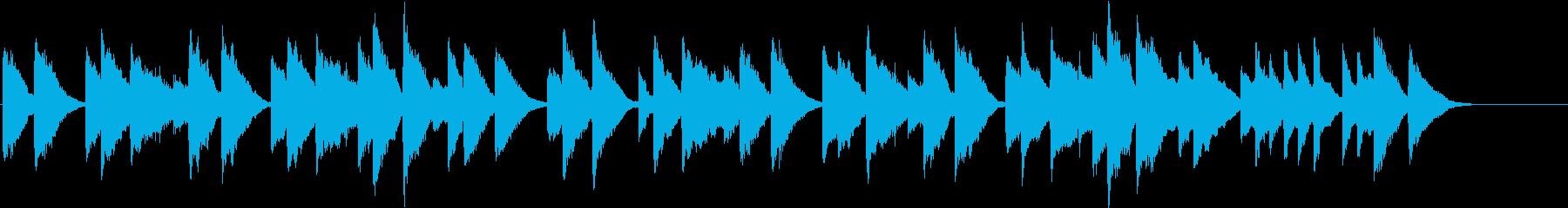 暗めのクラシック サラバンド ピアノの再生済みの波形