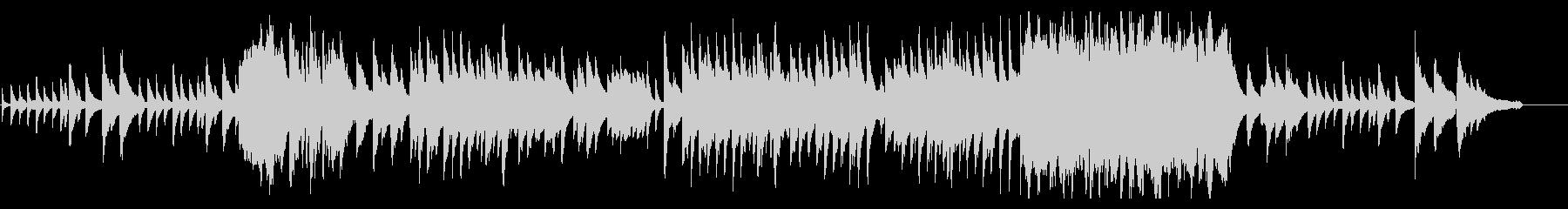 Piano solo Calm atmosphere's unreproduced waveform