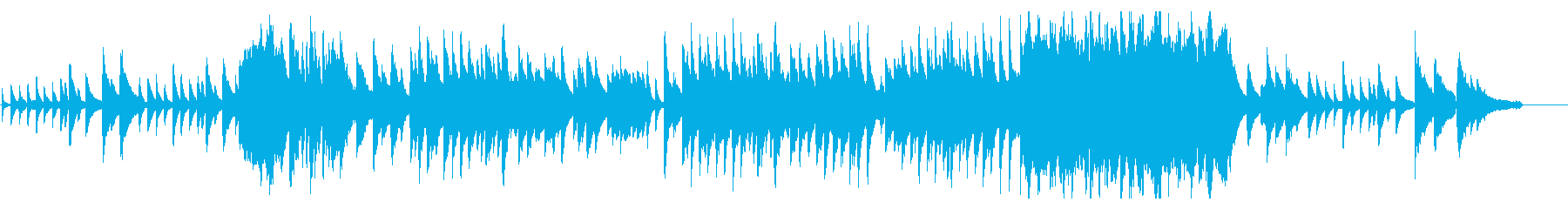 Piano solo Calm atmosphere's reproduced waveform
