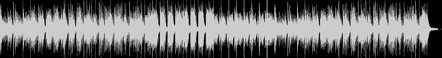 インパクトの少ないピアノ曲の未再生の波形