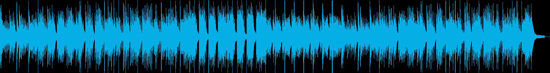 インパクトの少ないピアノ曲の再生済みの波形