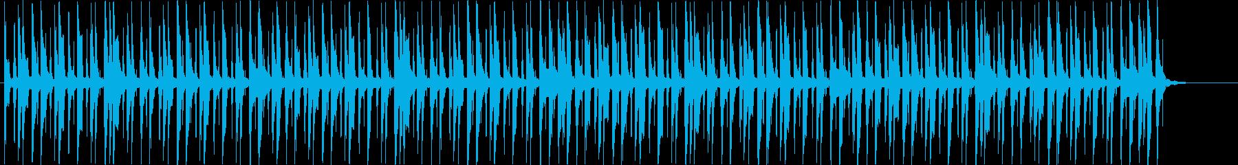 のんきでほのぼのしたリコーダーのBGMの再生済みの波形