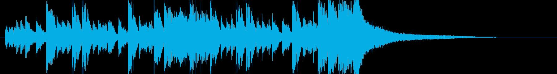 かわいいベルうきうきポップ日常ジングルbの再生済みの波形