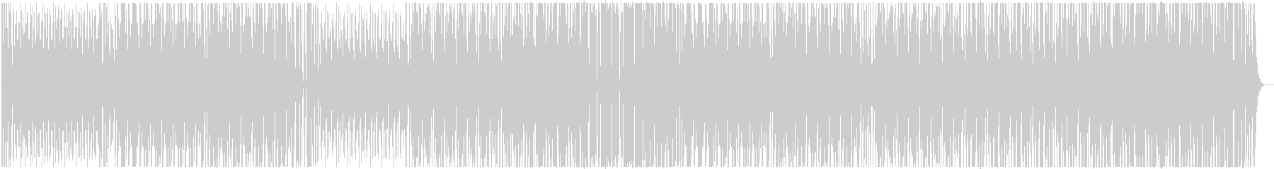 和太鼓のみの組太鼓楽曲02の未再生の波形