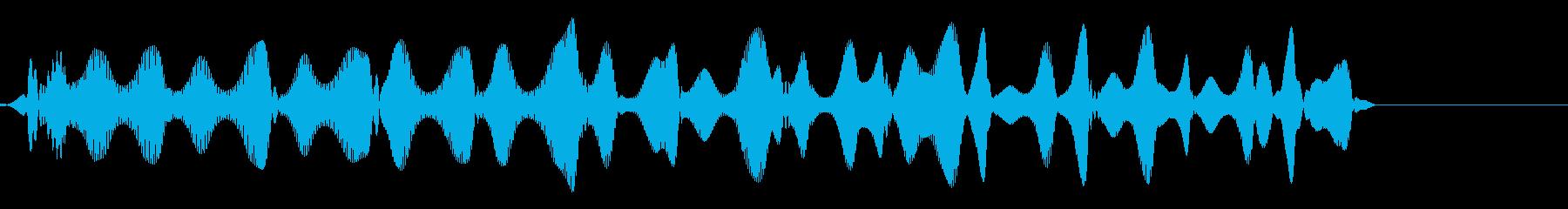 ピロピロ(飛行物体の移動音)の再生済みの波形