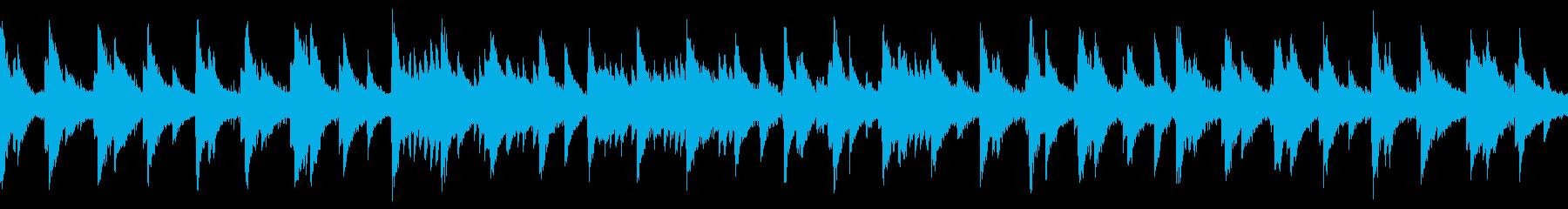 水底の世界×落ち着くピアノBGM/ループの再生済みの波形