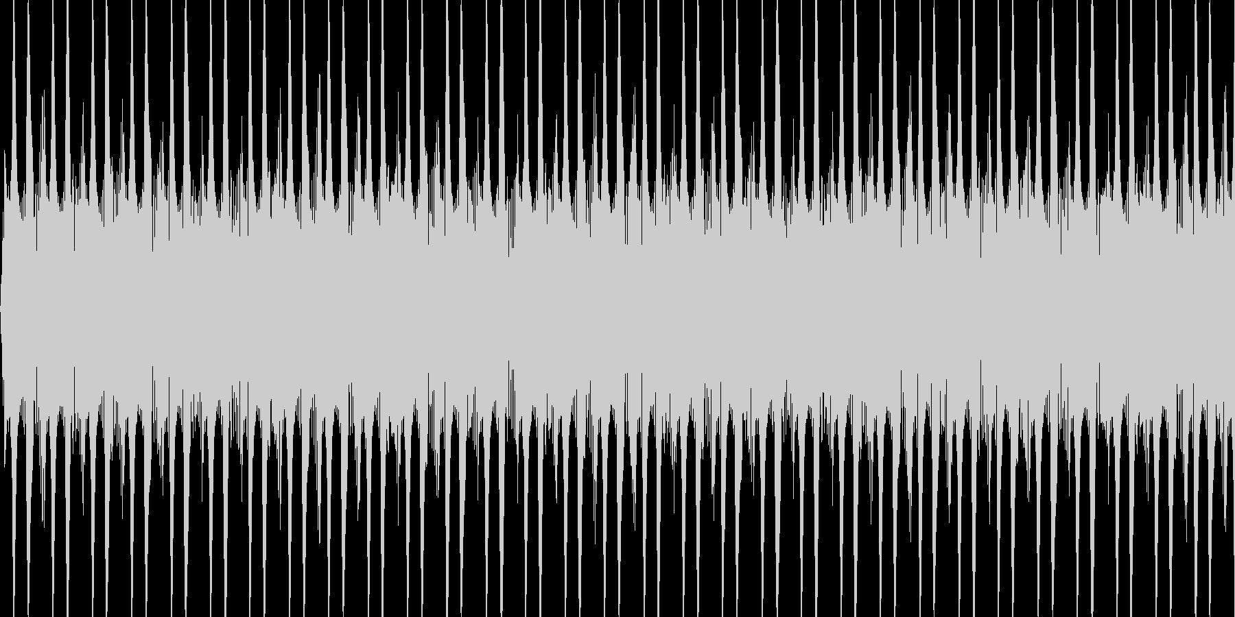 カウントするときの音の未再生の波形