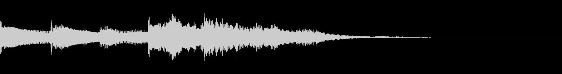 ギターアルペジオジングルの未再生の波形