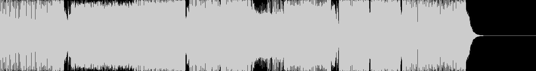 エレクトロハウス。シーケンサーシンセ。の未再生の波形