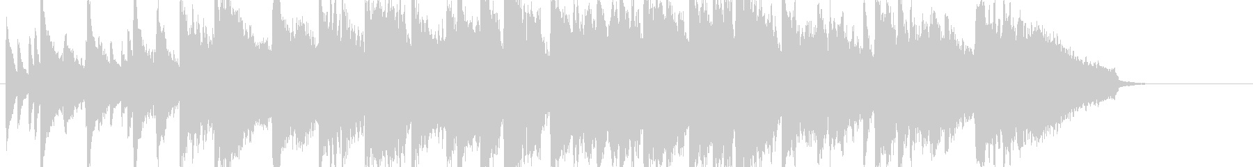 ピアノとストリングスの切ないしっとり曲の未再生の波形
