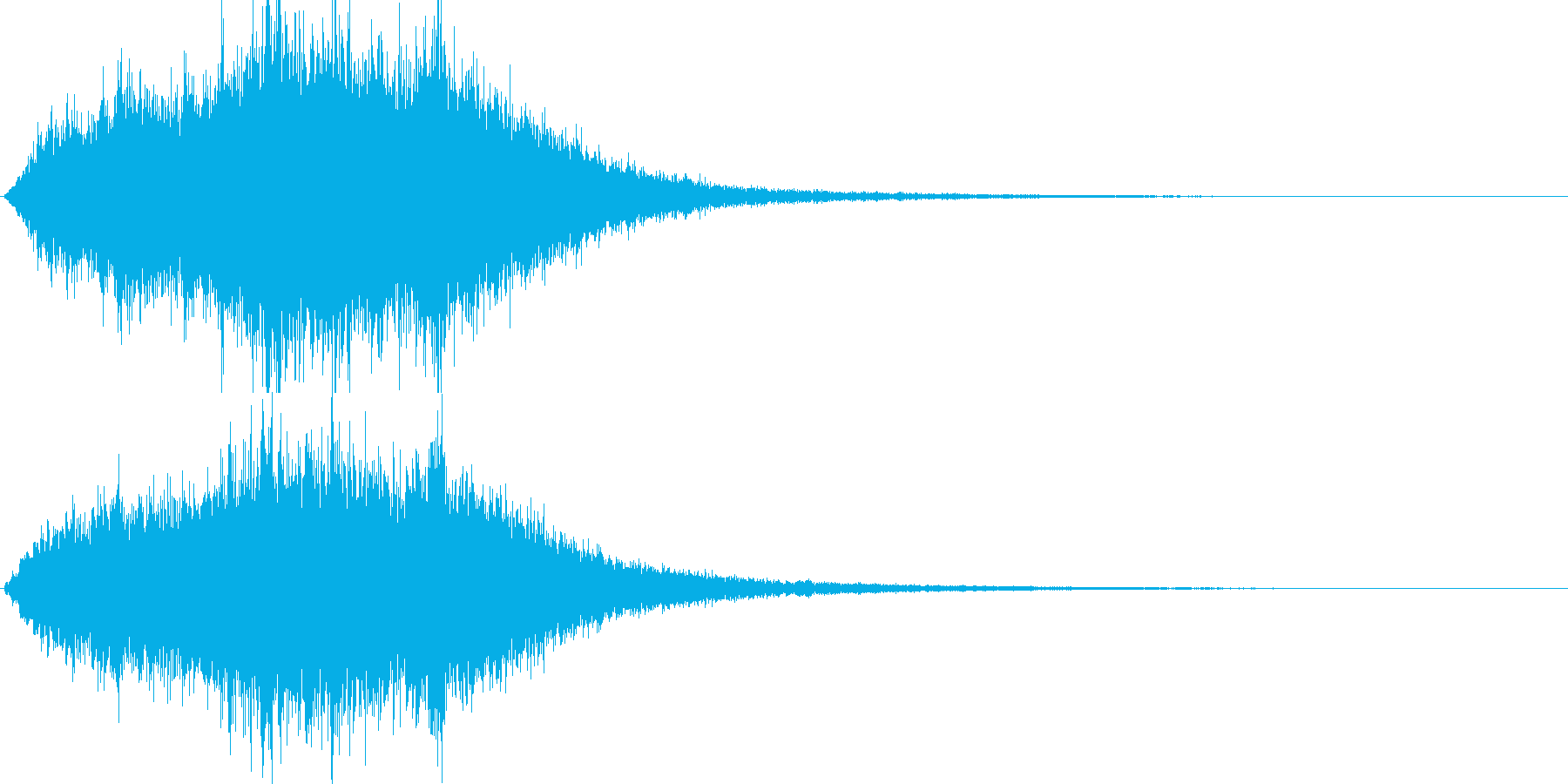 キラキラ・シャラシャラした音の再生済みの波形