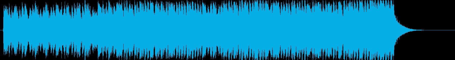 ファンタジー映画風のエピック・トレーラーの再生済みの波形