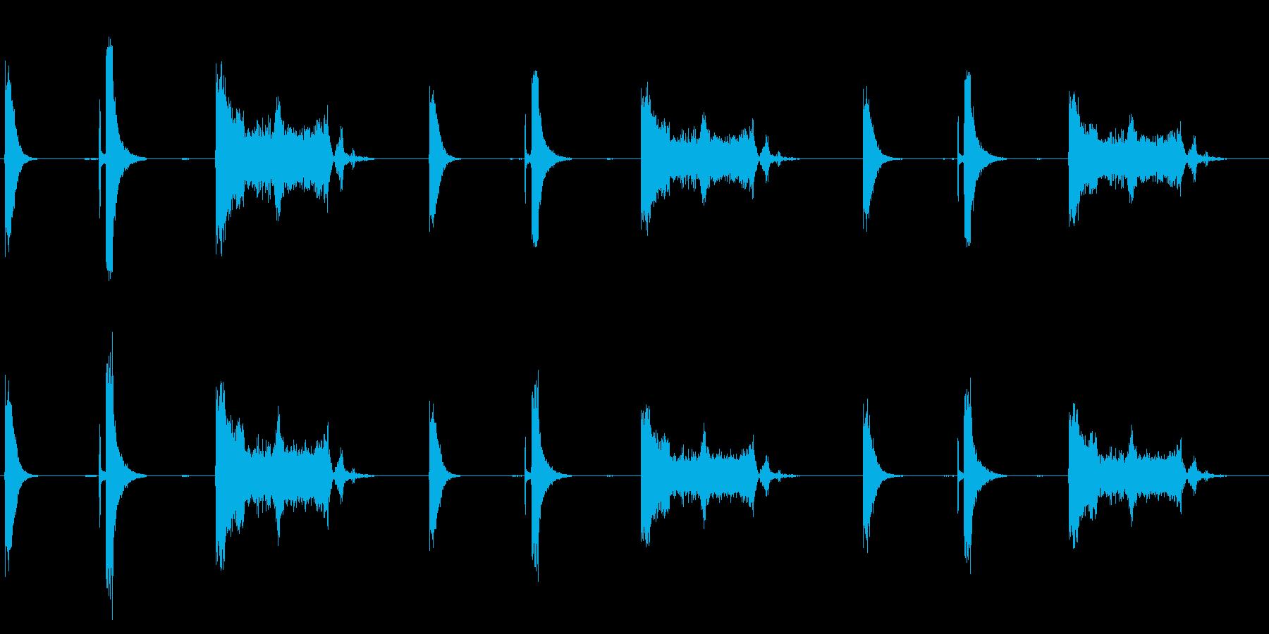 スイッチ、モータースタート、3バー...の再生済みの波形
