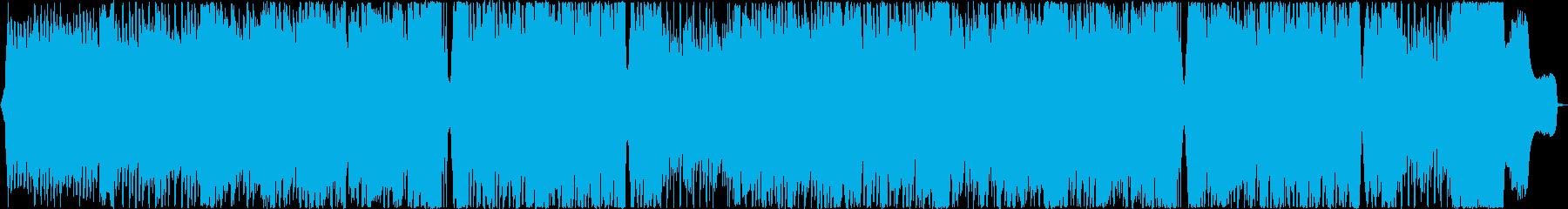 ストリングス四重奏とトランスの力強い融合の再生済みの波形