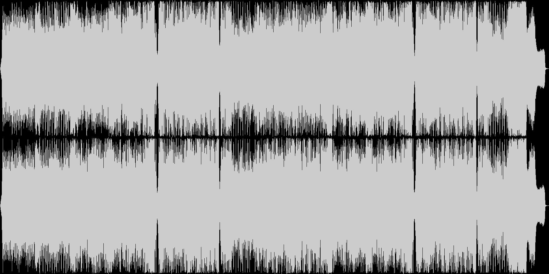 ストリングス四重奏とトランスの力強い融合の未再生の波形
