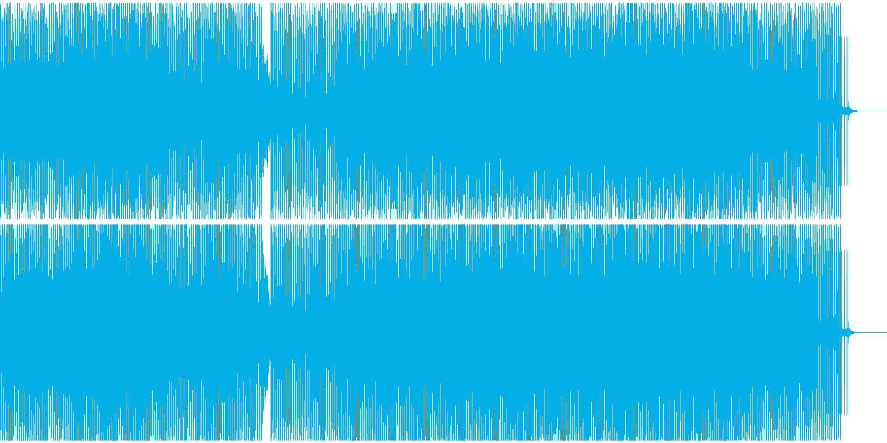 悲しい出来事(戦争)の様子(テクノ)の再生済みの波形