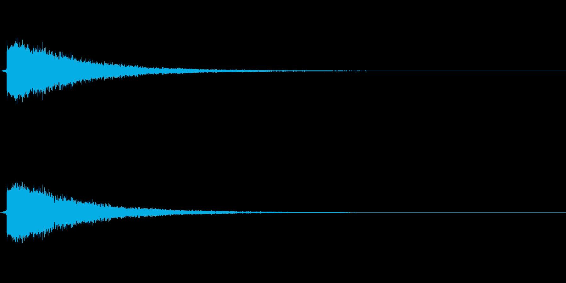 ピチュン(やられた音、ロスト音)の再生済みの波形
