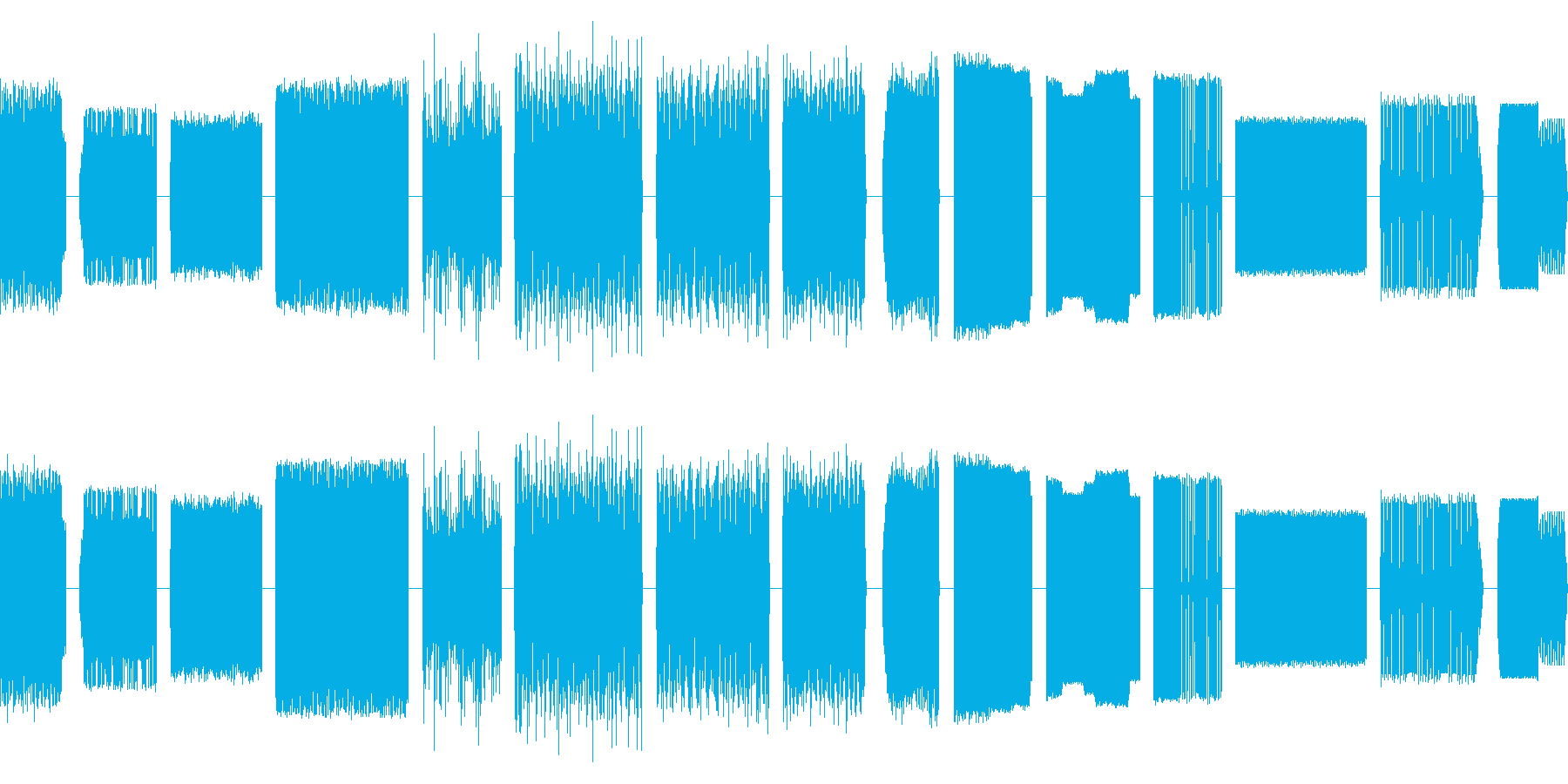 サンプル&ホールド、15乾燥バージ...の再生済みの波形