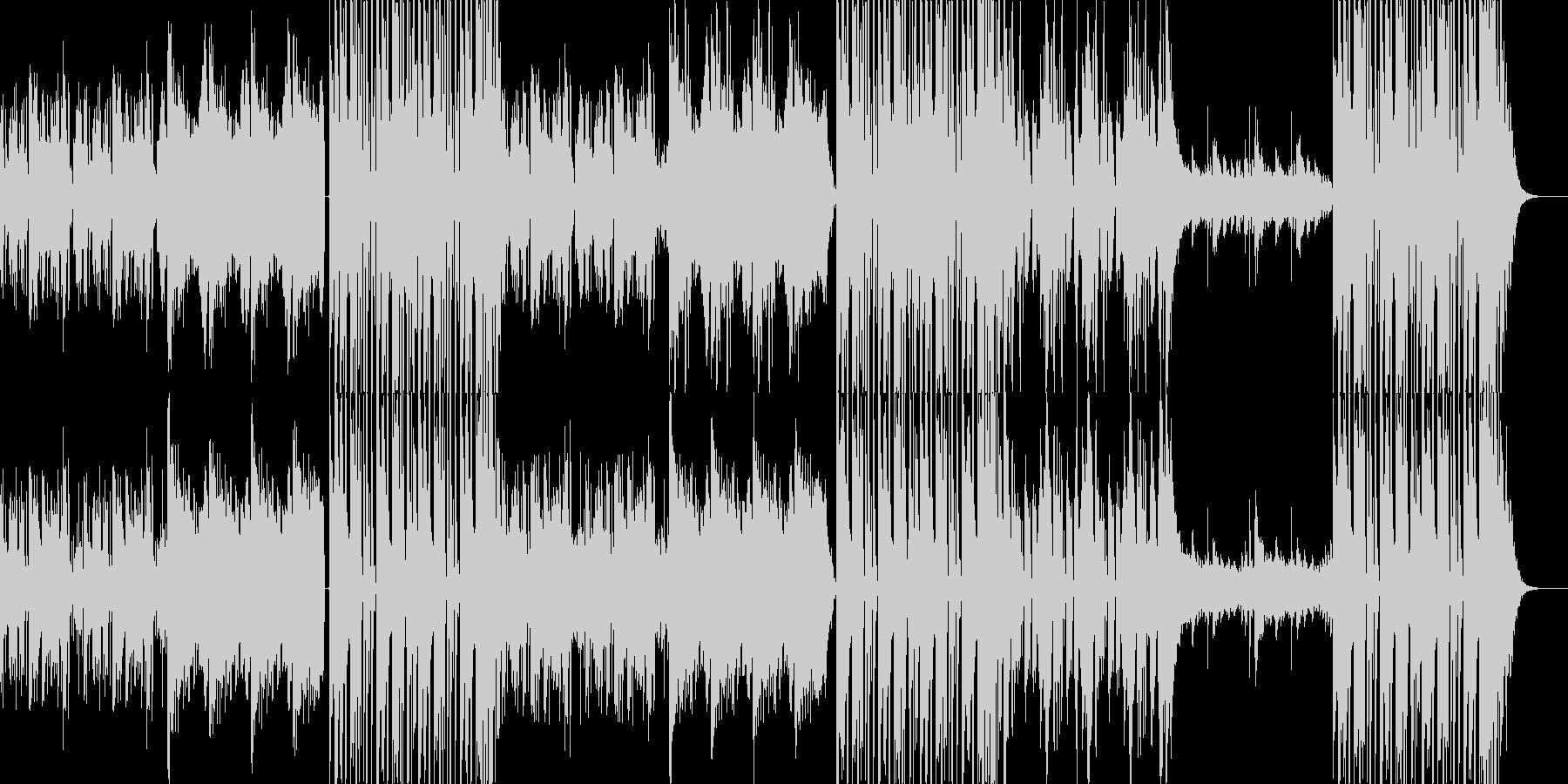 不気味で疾走感のあるEDM/ダンス曲の未再生の波形