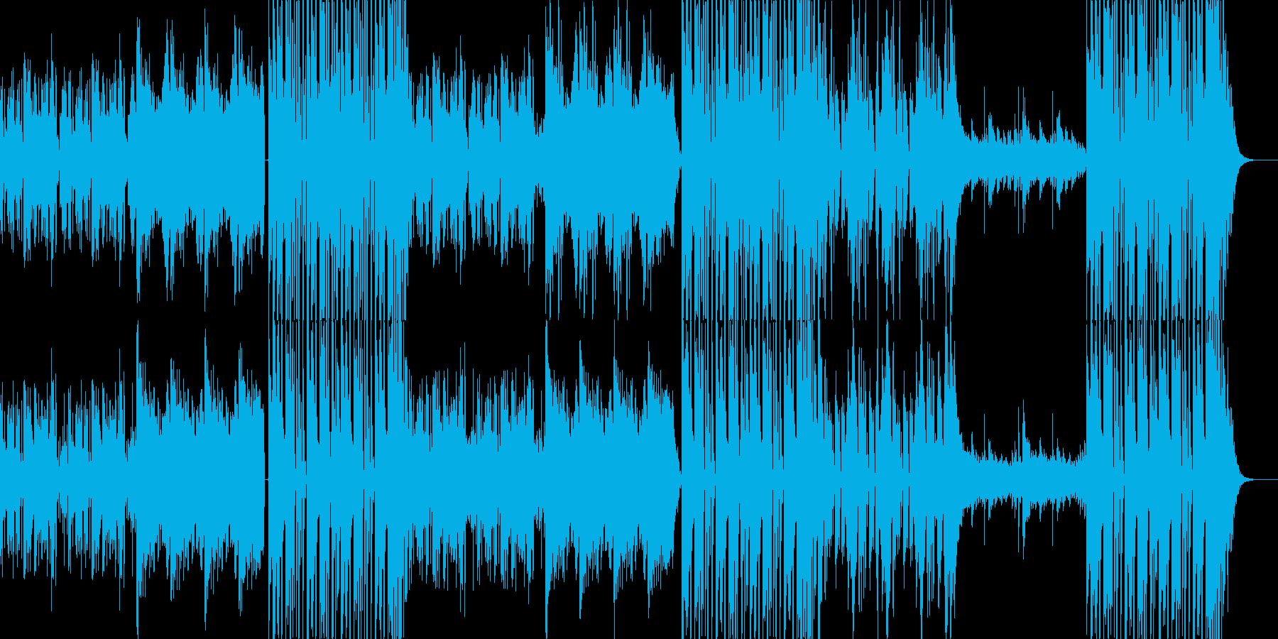 不気味で疾走感のあるEDM/ダンス曲の再生済みの波形