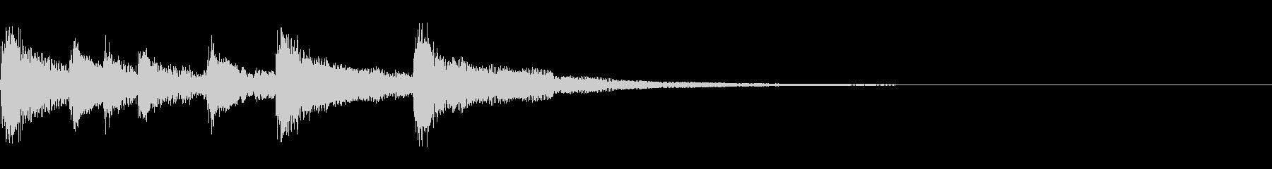 タンタカタンタン、タン♩タン♩の未再生の波形