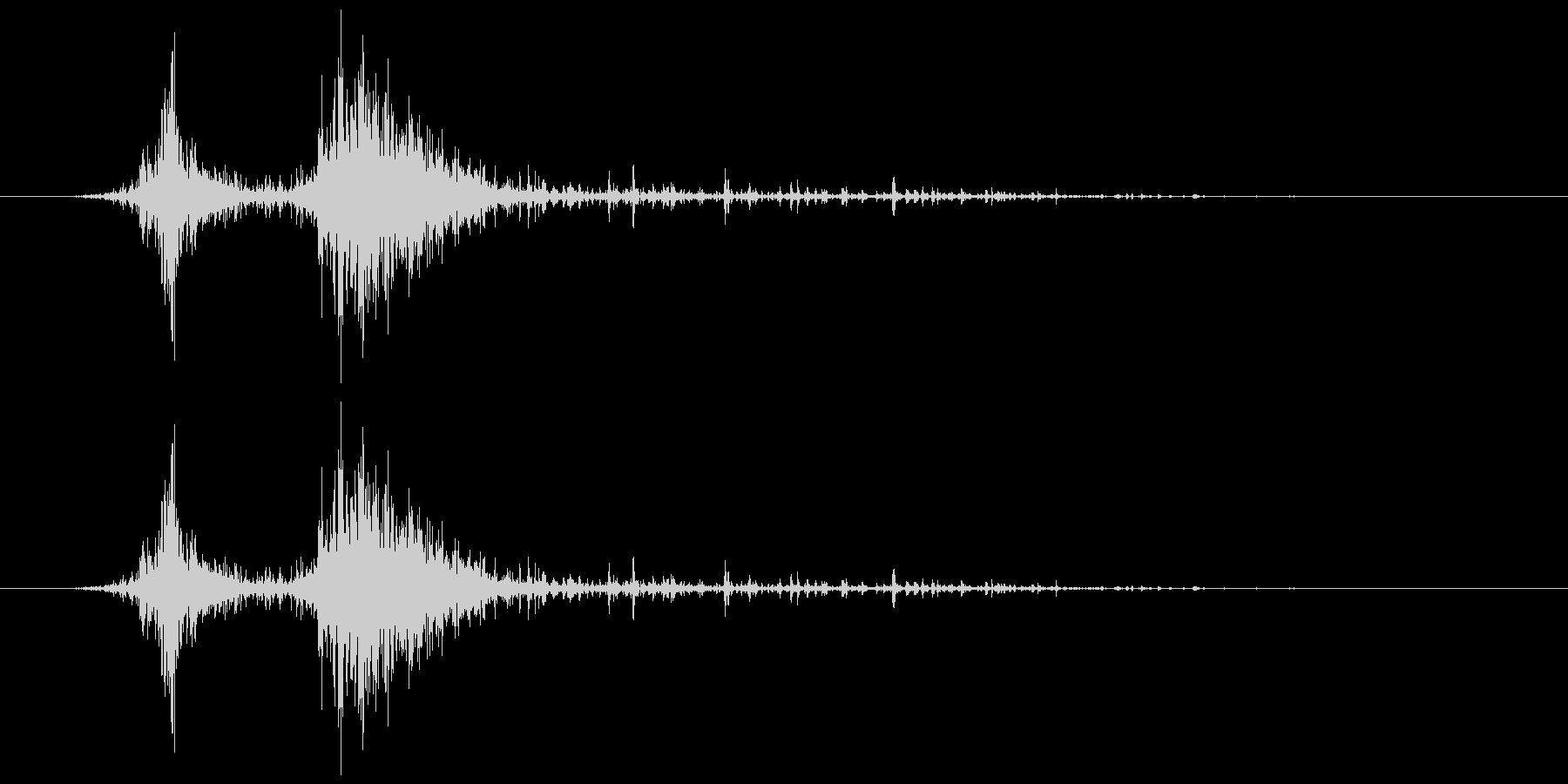 カシャ(シェーカー)の未再生の波形