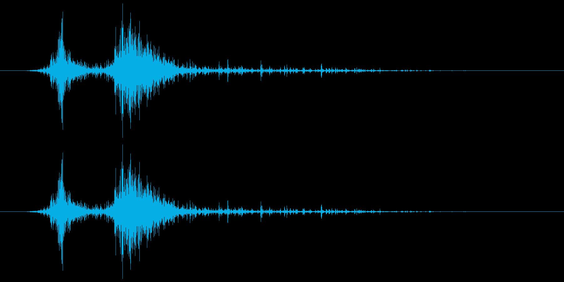 カシャ(シェーカー)の再生済みの波形