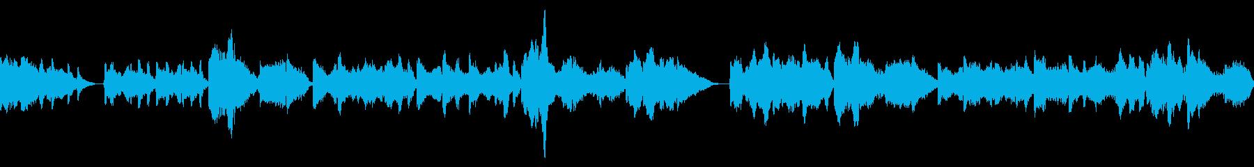 温かい音色のコントラバスデュオでの賛美歌の再生済みの波形