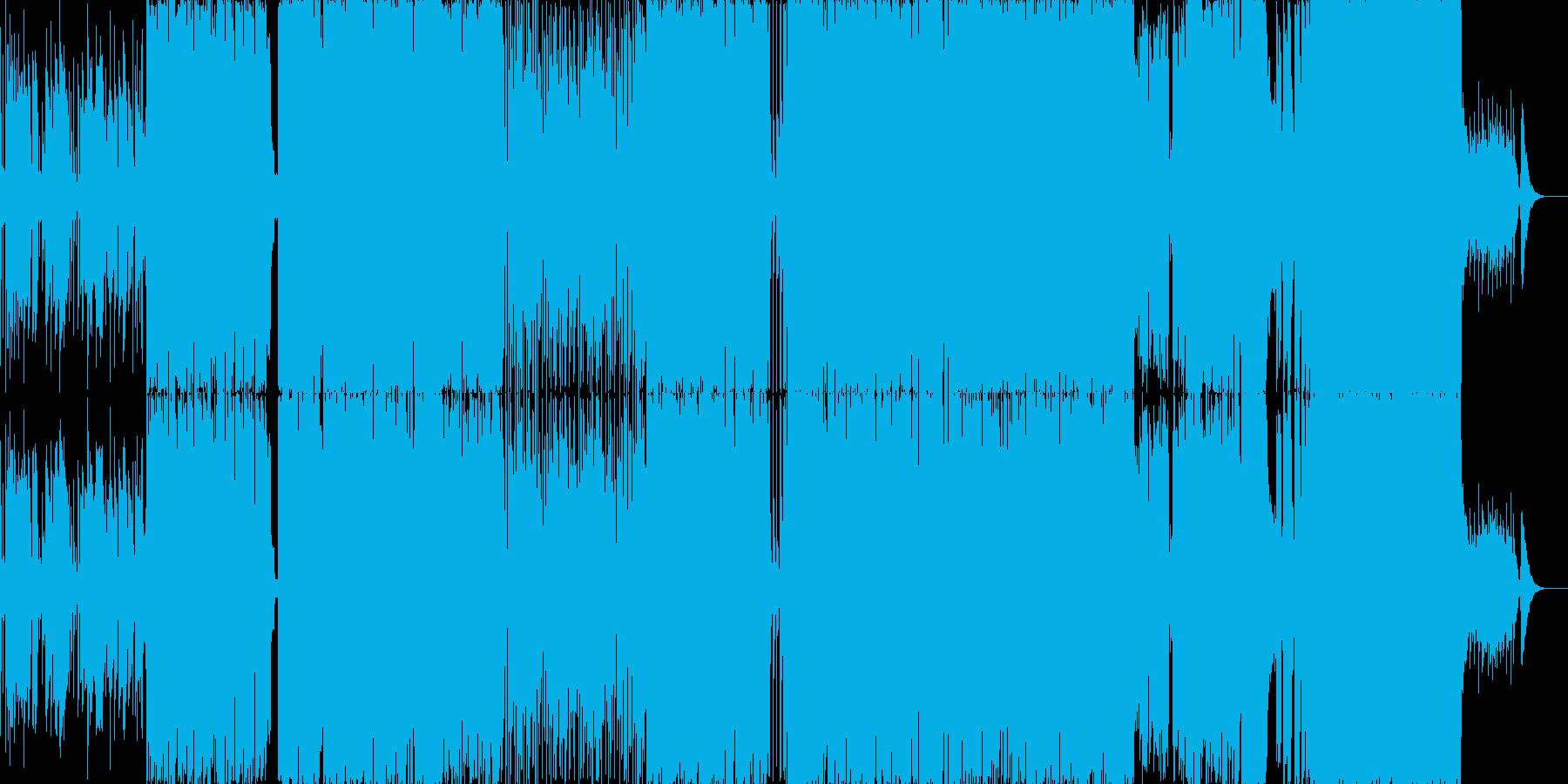 切ない系ミドルバラードの再生済みの波形