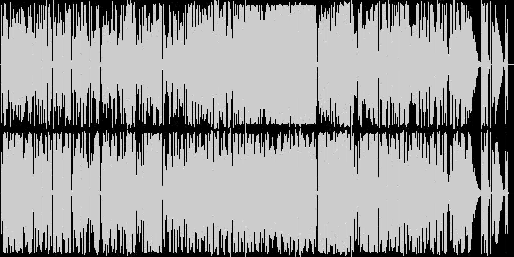 ノリノリのギターインストの未再生の波形