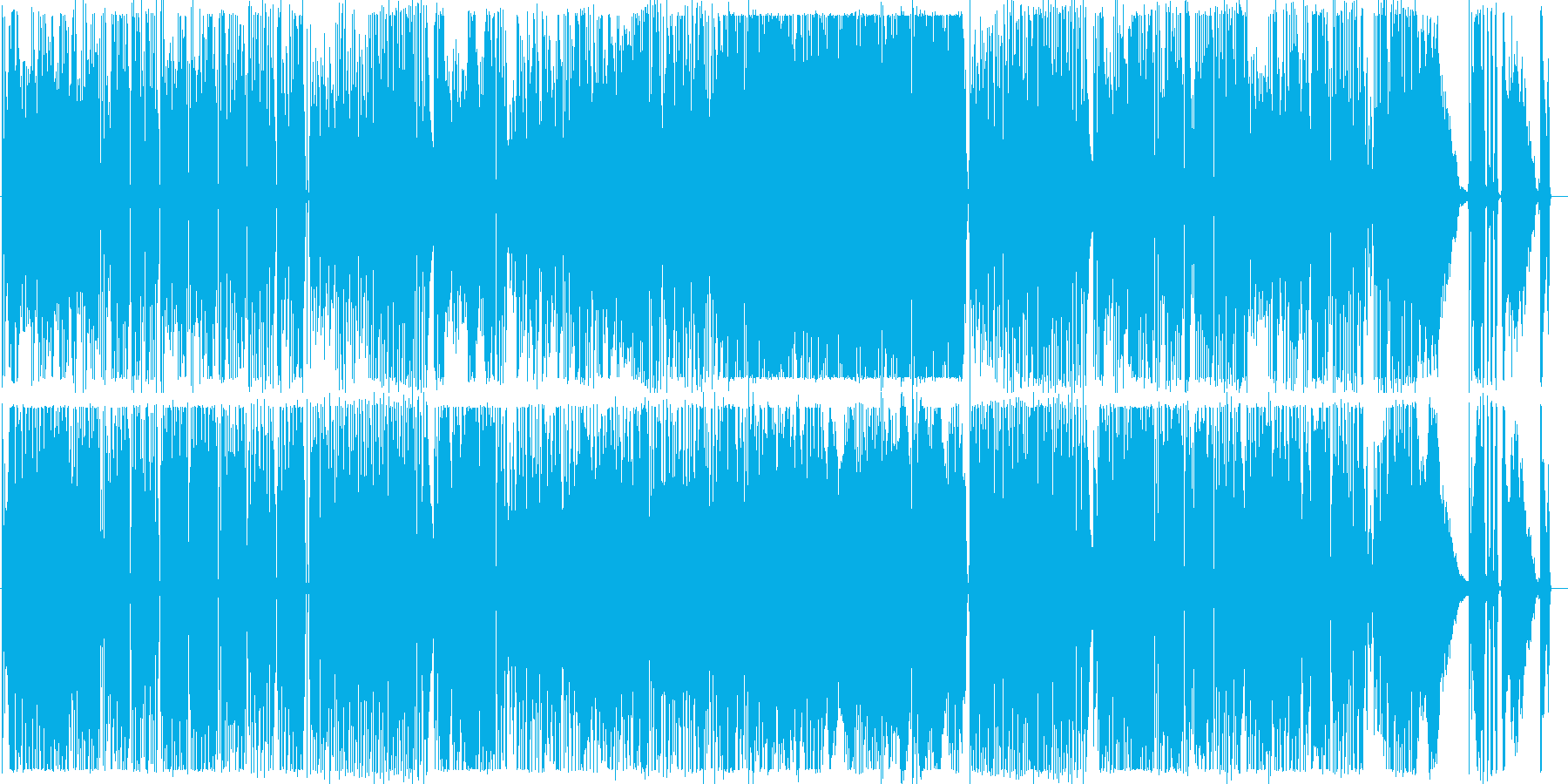 ノリノリのギターインストの再生済みの波形
