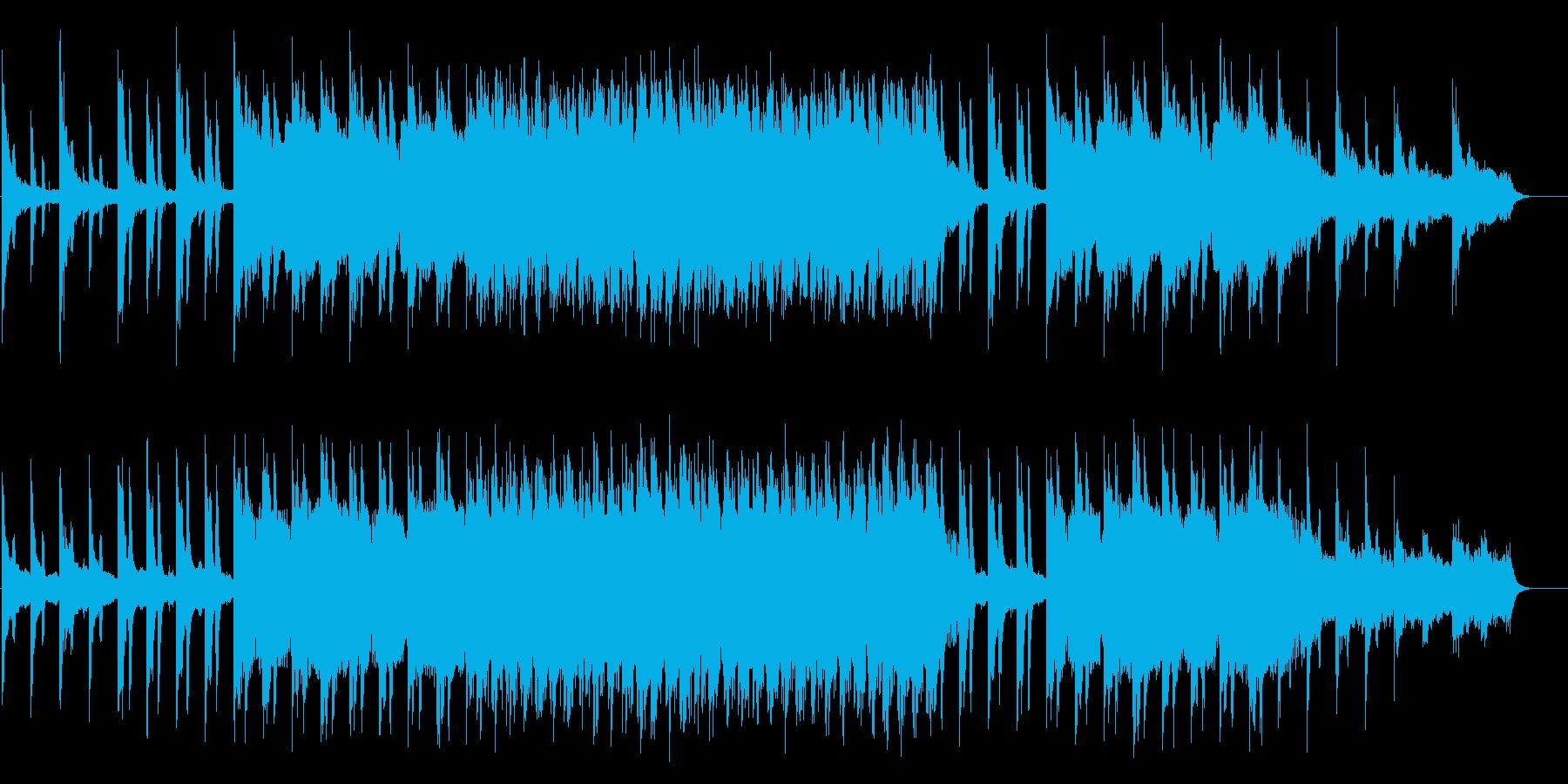 ミステリアスで民族的な印象のBGMの再生済みの波形