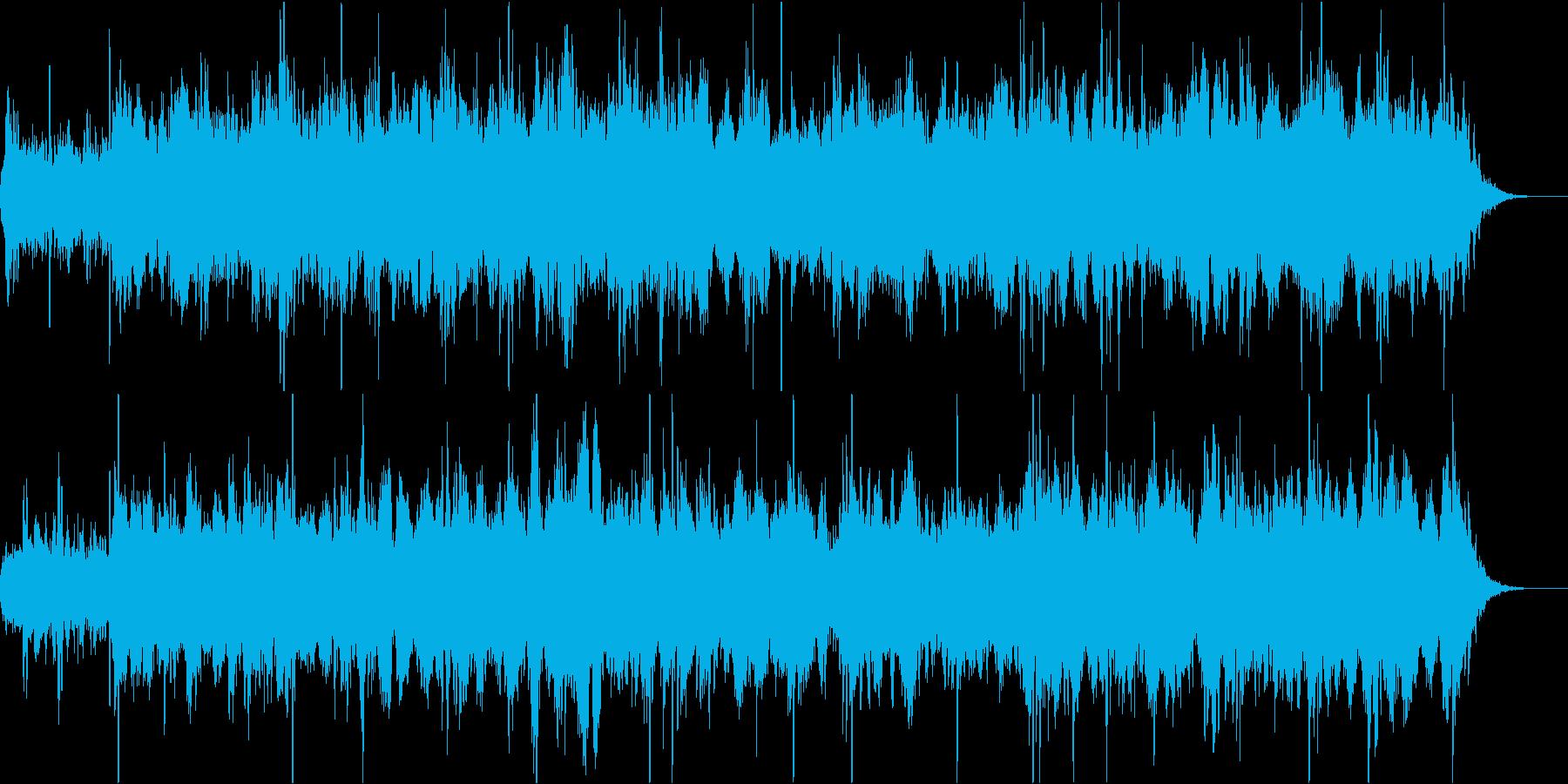 静かでスムーズなエレクトロの再生済みの波形