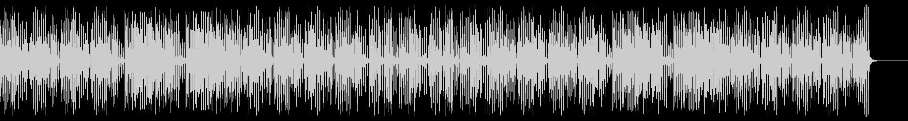速い明るいハッピーなレトロジャズピアノの未再生の波形