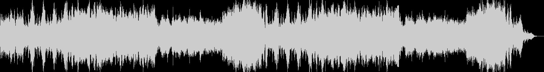 ゲームのバトルのようなオーケストラ曲の未再生の波形