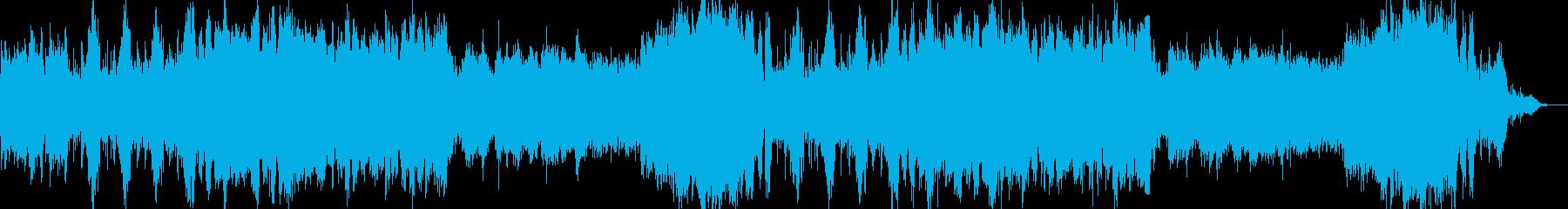ゲームのバトルのようなオーケストラ曲の再生済みの波形