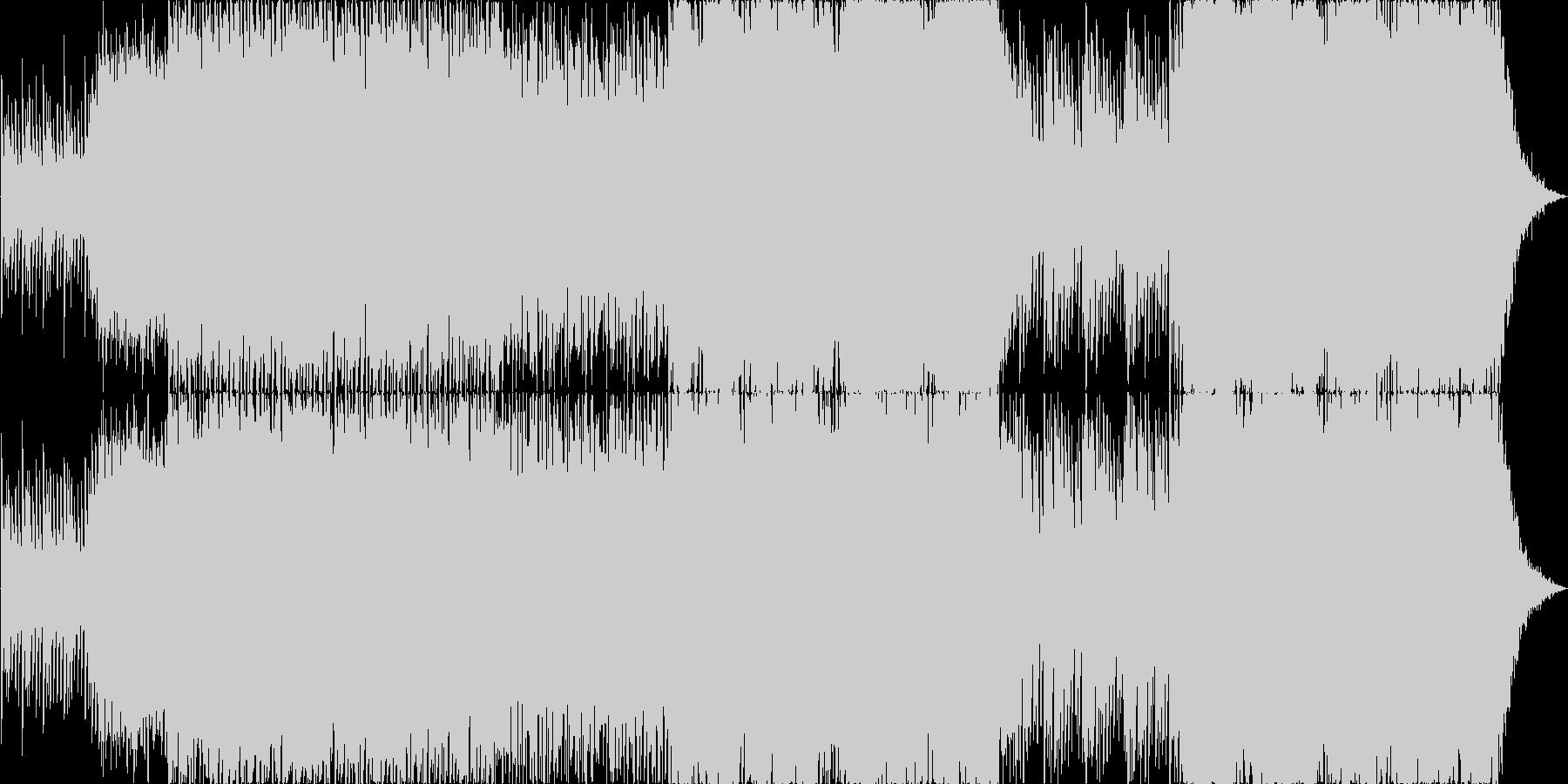 トライバルな疾走感の曲の未再生の波形