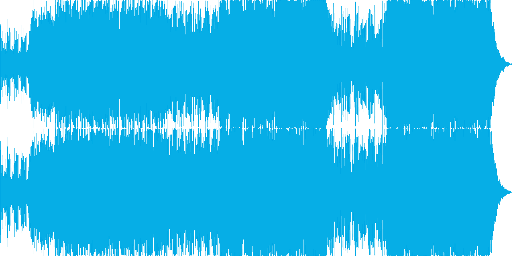 トライバルな疾走感の曲の再生済みの波形