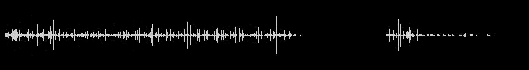 水の泡x2の未再生の波形