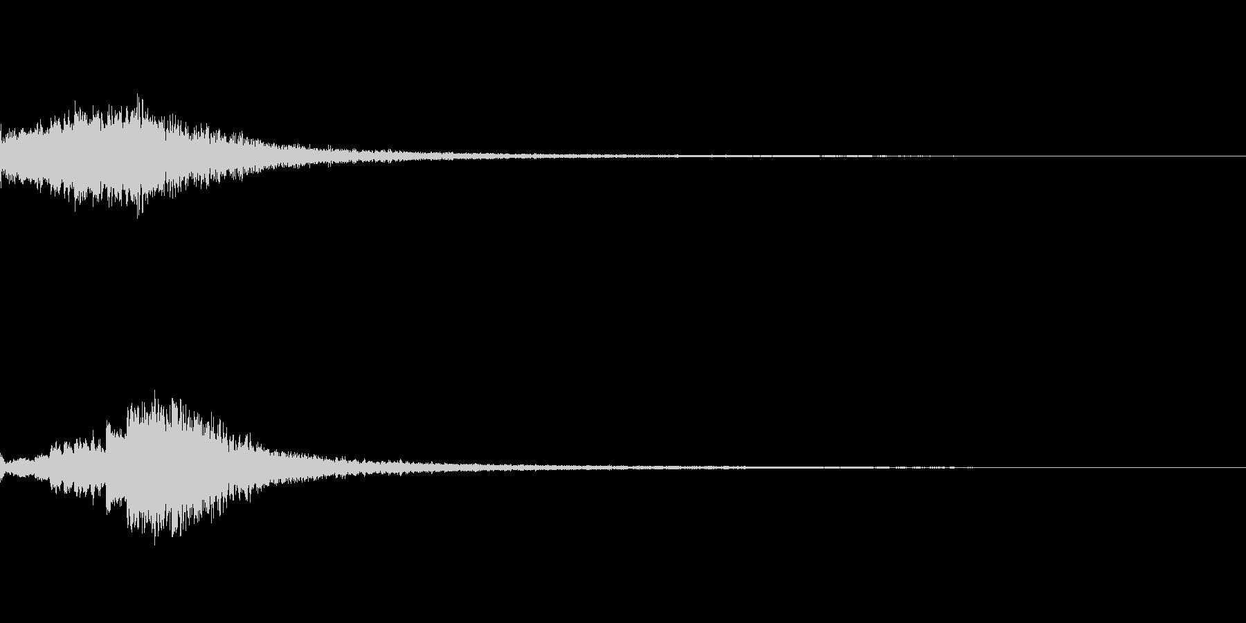 「キラリン (流れ星風の音)」の未再生の波形