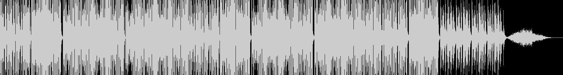 重低音の変速ビートのシンセサイザーの曲の未再生の波形